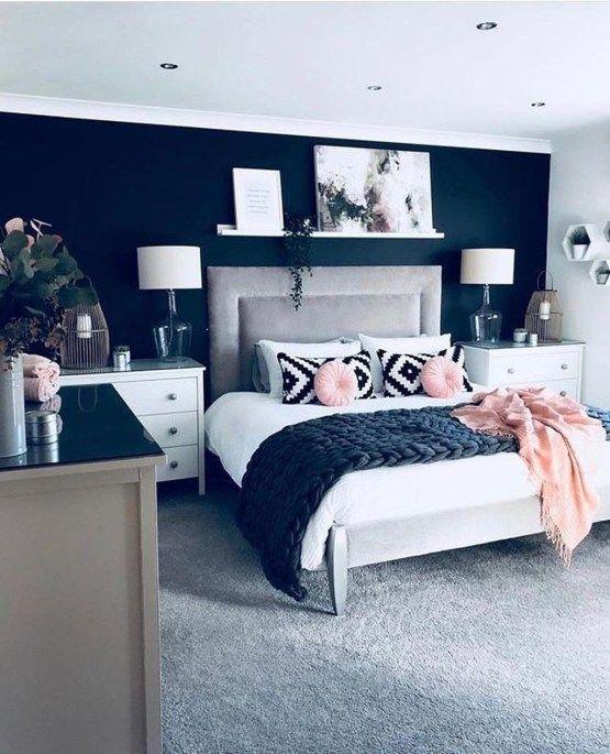 30+ Fancy Master Bedroom Color Scheme Ideas - #Bedroom #Color #Fancy