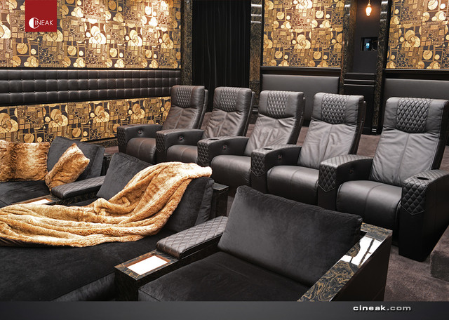 ULTIMATE LUXURY MEDIA ROOM. - Contemporary - Home Theater - Los