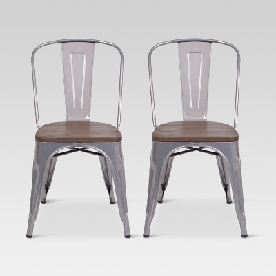 Metal Dining Chairs With Wood Seat