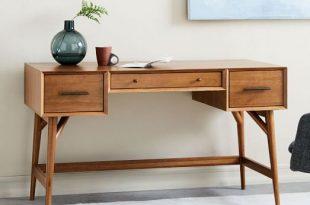 Mid-Century Desk - Acorn   west elm