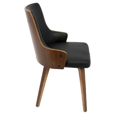 Stella Mid Century Modern Dining Chair - Black (Set Of 2) Lumisource