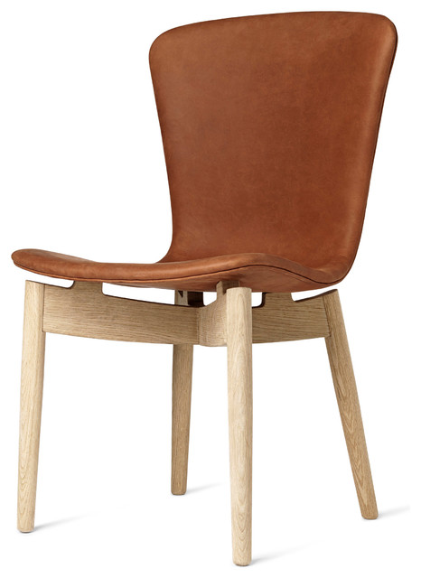 Mater Shell Mid Century Modern Dining Chair Leather - Midcentury