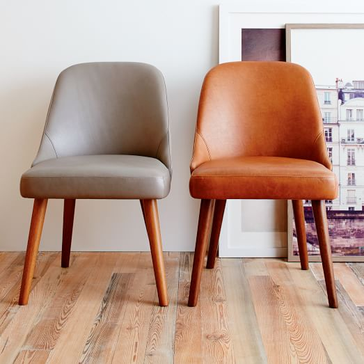 Mid-Century Leather Dining Chair | west elm