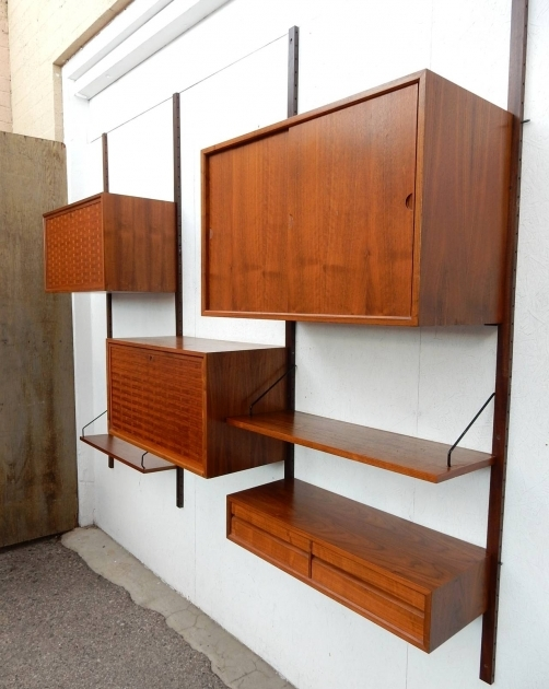 Incredible Mid Century Modern Poul Cadovius Cado Wall Unit Cabinet