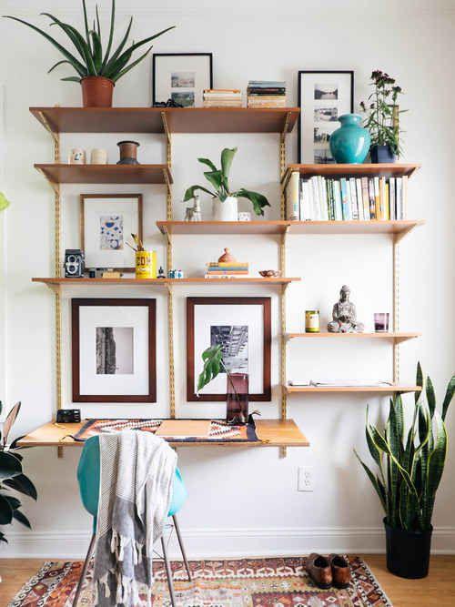 Danish Modern Desk Unit in 2019 | Home | Track shelving, Desk wall
