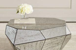 Dimensional Antiqued-Mirror Coffee Table | Neiman Marcus