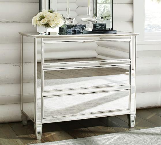 Bedroom Dresser Night Stand Desk And Dresser Set Glass Mirror
