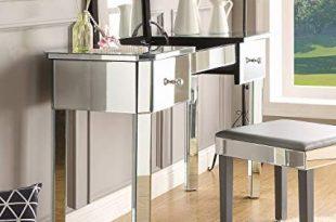 Amazon.com: Inspired Home Mirrored Vanity Table - Design: Louisa | 2