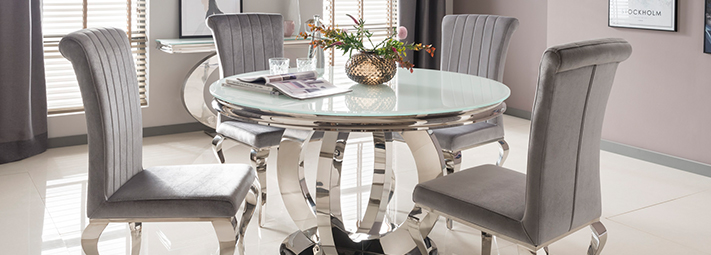 Glass and Mirrored Dining Collections | Furniture 123
