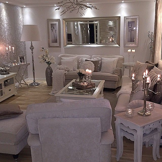 Mirrored Glass Living Room Furniture