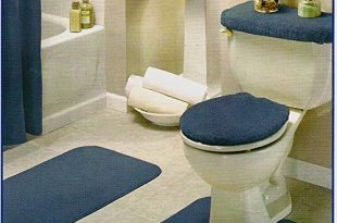 Add modern 4 piece bathroom rug set to make your it attractive and