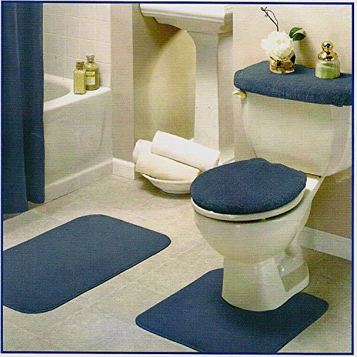 Modern 4 Piece Bathroom Rug Set