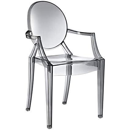 Amazon.com - Modway Casper Modern Acrylic Dining Armchair in Smoke