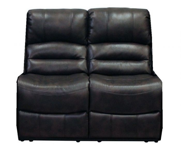 Chintaly LAREDO-ALLS-BLK Laredo Reclining Bonded Leather Armless