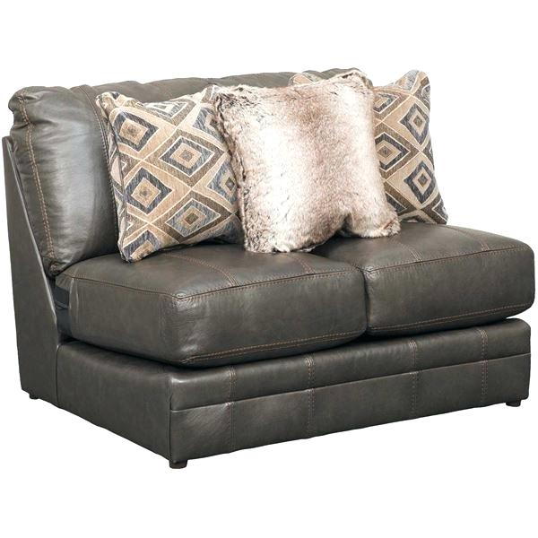 Armless Faux Leather Loveseat King Hickory Living Room F u2013 auditionradio