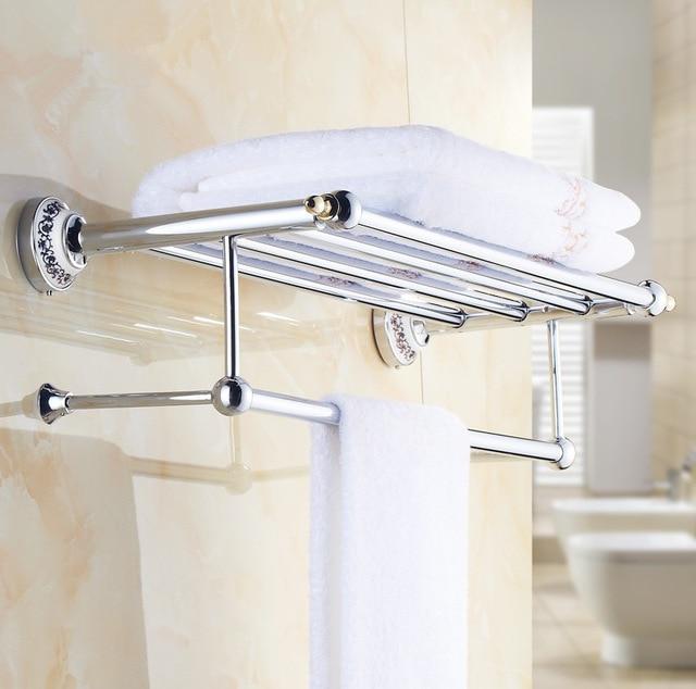2016 Luxury Chrome Design Towel Rack,Modern Bathroom Accessories