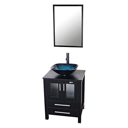 Eclife 24'' Modern Bathroom Vanity And Sink Combo Stand Cabinet and