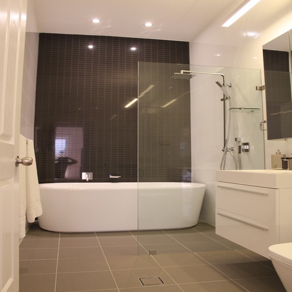 Modern Bath Shower Combo Bathroom With Shower Walk In 72 Alcove Bathtub