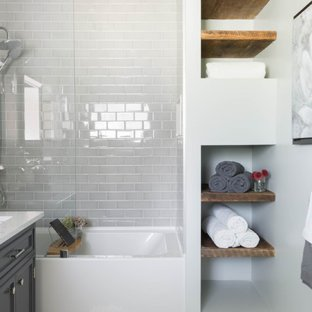 75 Most Popular Contemporary Tub/Shower Combo Design Ideas for 2019
