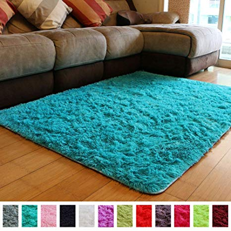 Amazon.com: PAGISOFE Soft Fluffy Blue Area Rugs for Bedroom Kids