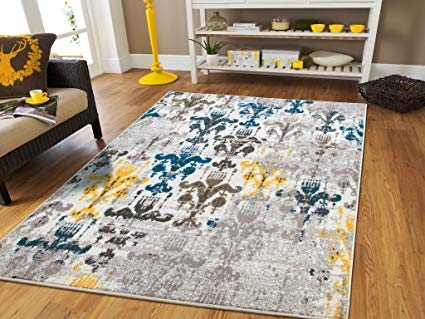 Amazon.com: New Fashion Faded Style Rugs Blue Area Rug 8x11