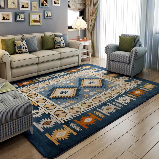 Rome grid Diamond Blue Carpet Modern Abstractionism Geometric