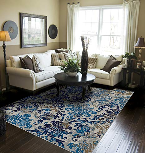 Amazon.com : Modern Distressed Area Rugs for Living Room 5x7 Blue
