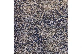Shop Firesse Modern Carmella Drk. Blue/Ivory Wool Area Rug (4'1 x 6