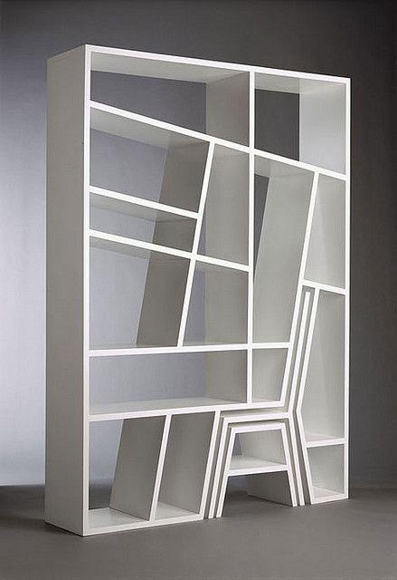 Geo Book Shelf 1 | Unique Product Designs | Bookshelf design