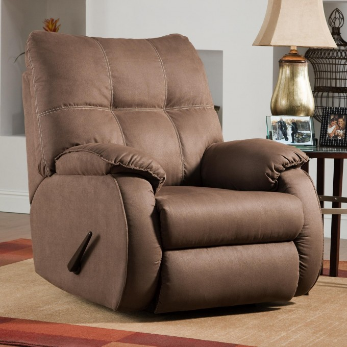 Decorating: Very Cozy Rocking Recliner For Placed Modern Family Room