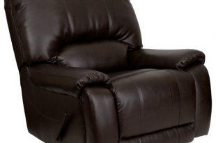 Flash Furniture OverStuffed Brown Leather Lever Rocker Recliner