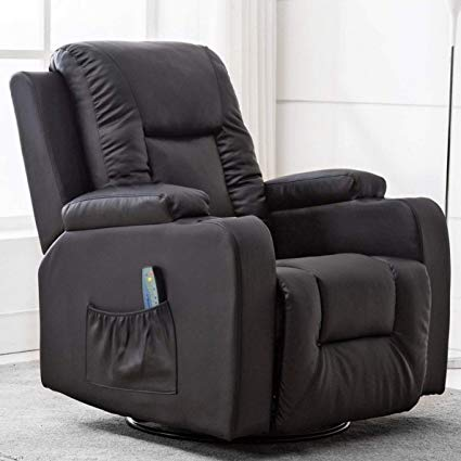 Amazon.com: ComHoma Leather Recliner Chair Modern Rocker with Heated