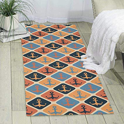 Amazon.com: Nautica Anchors (2) Area Rug Modern Living Room Floor