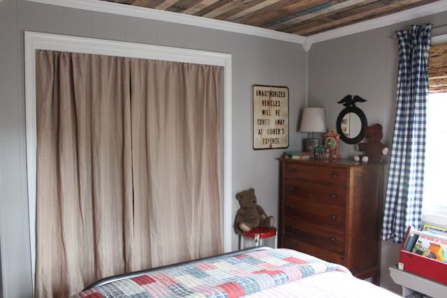 curtains in lieu of closet door: Vintage Modern collection of Thomas