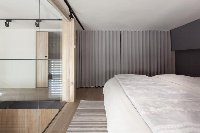 Curtain Over Closet Area | Interior Design Ideas.