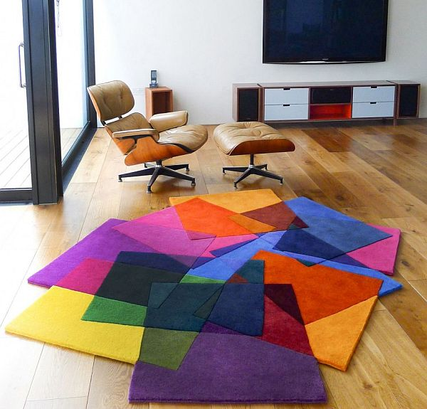 Make your home attractive and beautiful by modern colorful area rugs