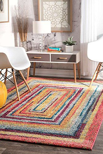 Modern Area Rug Contemporary Colorful Geometric XL Large Rugs 9x12