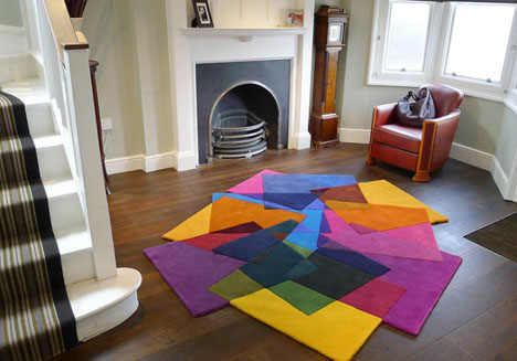 Colorful Carpet + Abstract Art u003d Geometric Home Area Rugs   Designs