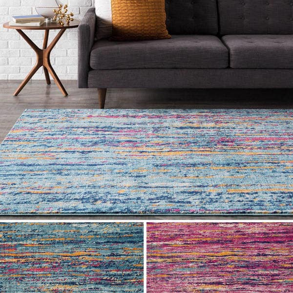 Shop Porch & Den Fisher Woven Modern Colorful Area Rug - On Sale