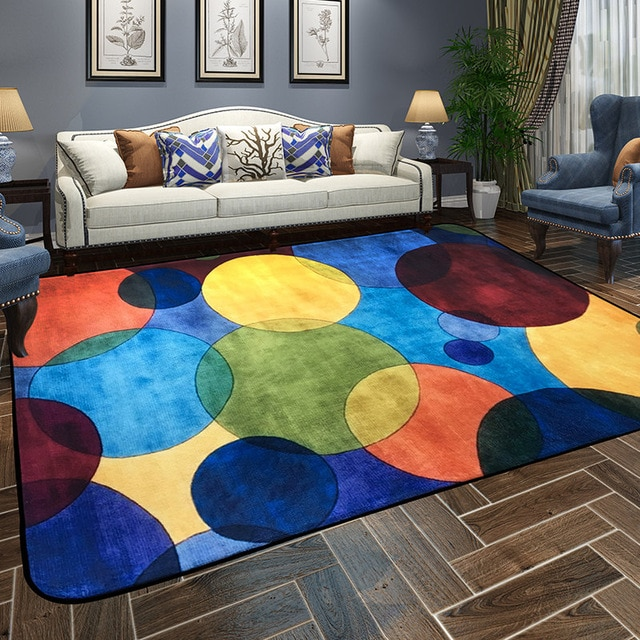 Modern Colorful Endless Carpets For Living Room Home Simple Area