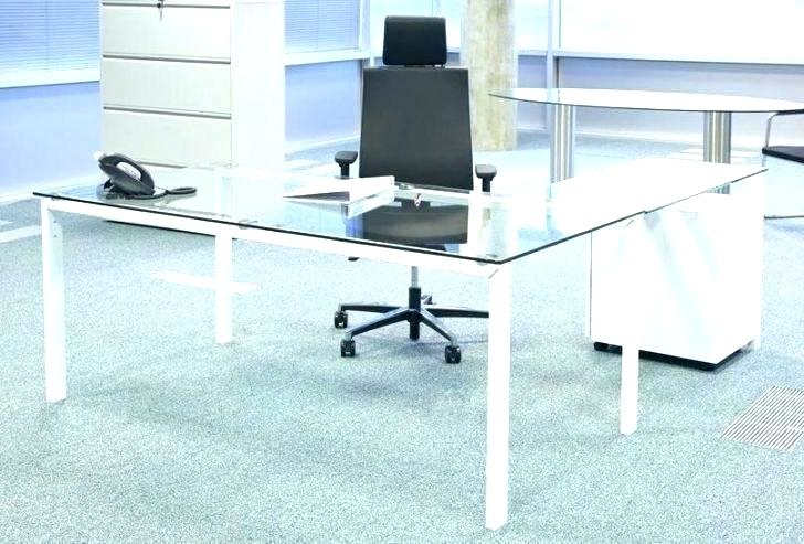 Glass Desk Curved Glass Desk By Custom Glass Desk Protector