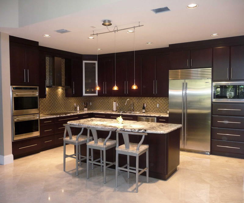 modern custom kitchen cabinets design for apartment kitchen with mini  dinning table