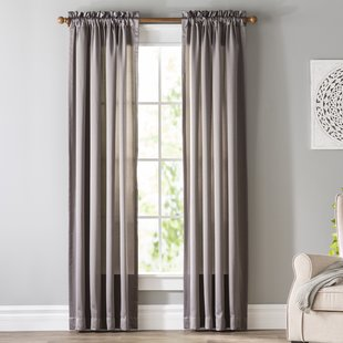 Gray and Silver Curtains & Drapes You'll Love | Wayfair