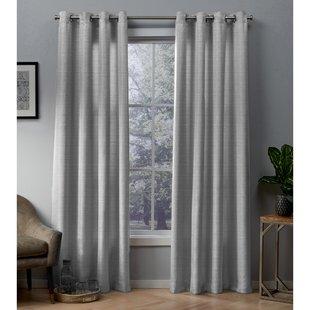 Modern Dark Gray Curtains For Living Room