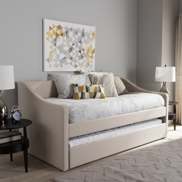 Shop Baxton Studio Kallikrates Modern Daybed with Trundle Bed - Free