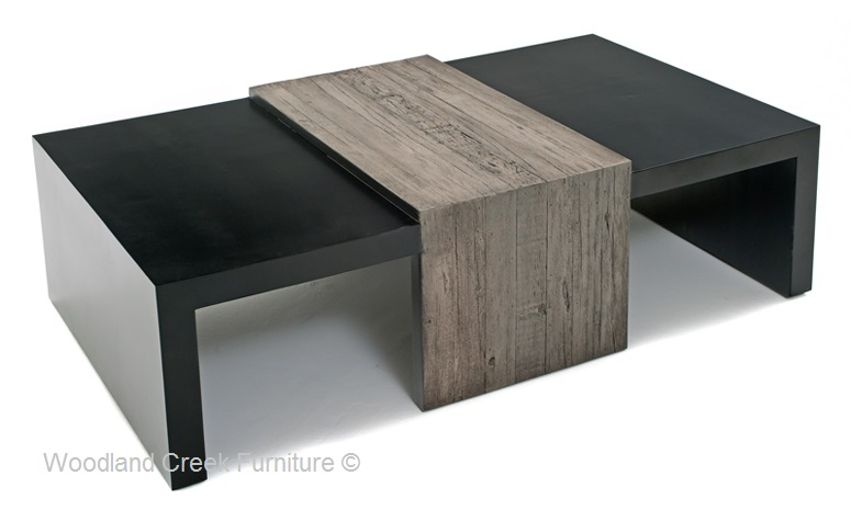 Mountain Modern Coffee Table, Rustic Contemporary Coffee