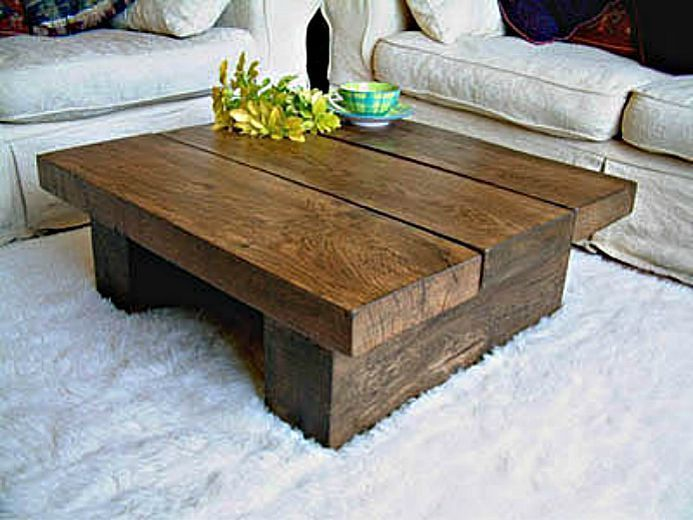 Coffee Table: Wonderful rustic wood coffee table Round Farmhouse