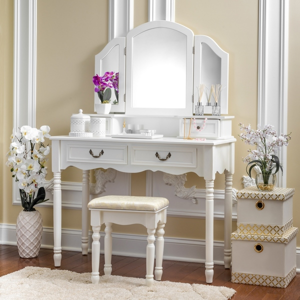 Bedroom Modern Makeup Vanity Set With Lights Vanity Table With