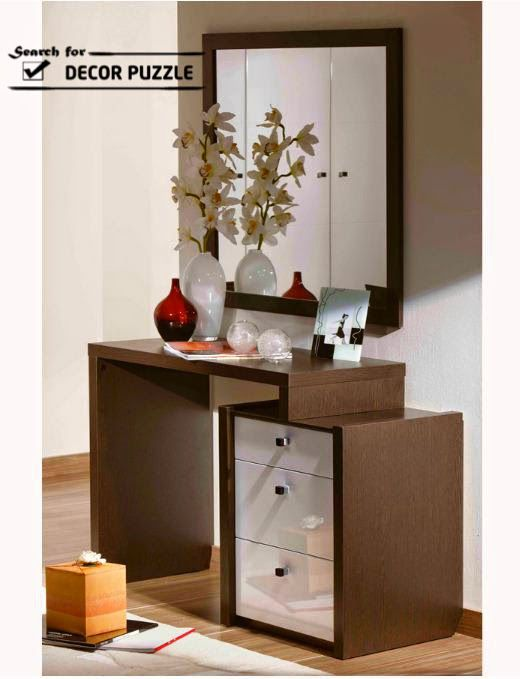 Modern Dressing Table With Mirror And Drawers