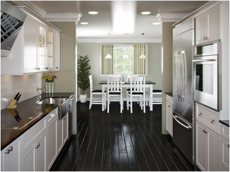 Open Kitchen Plans with island » Modern Looks Small Galley Kitchen